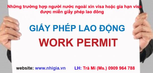 Miễn giấy phép  lao động